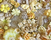 Creamy White and Yellow Flowers by the Bunch* Flower Inspiration Kit*Shabby Chic Flowers