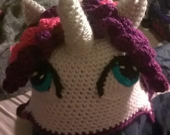 Crocheted My Little Pony Inspired Beanie