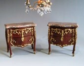 1:12th Scale ~ Dolls House ~ Pair of Beautiful French Louis XV Alcove Cabinets