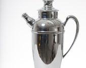 Chromium Cocktail Shaker Cromwell Silver Mid Century Barware 1950s
