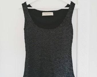 BLACK SEQUIN TOP, sequin tank top, black evening top, party top, black party tank top,