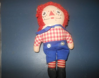 """Vintage Knickerbocker Gruelle Raggedy Andy Doll, 7"""", Estate Antique,Retro Original Raggedy Andy Doll that we Grew up with in the 1970's"""