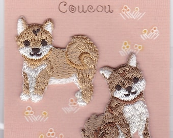 Shiba Inu Dog  Embroidered Iron-on Applique Iron-on Patch (H457-944) Buy other items together for BETTER price.