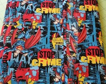 Supermam Fabric DC Comics