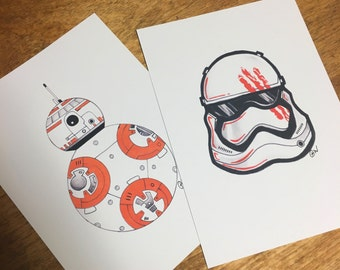 Star Wars Print Set - 2 Prints!