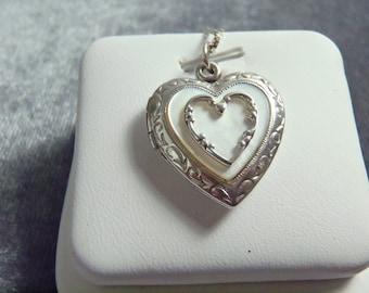 Sterling Silver Heart Locket w/Chain Pendant P173