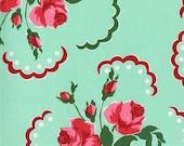Retro Florals for Michael Miller Francie Aqua CX6851