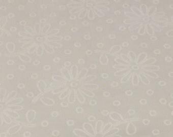 White on White Fabric - Daisy Fabric - Sweet Things - Lakehouse Fabric