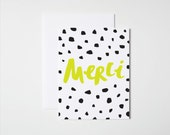 Thank You Card- Merci