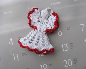 crochet angel christmas angel christmas tree ornament christmas decoration xmas decor christening gift