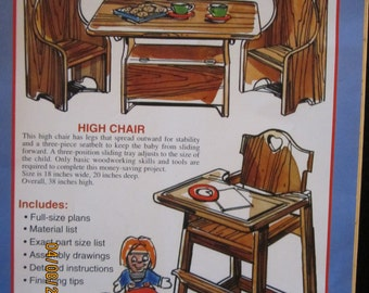 Child's Table & Chairs/High Chair Patterns