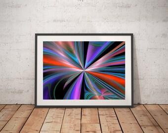 Computer geek gift, abstract art print, fractal art, math poster, sacred geometry art print, download art print