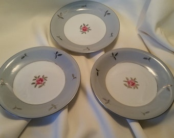 Set of 3 Seyei Maria Bella 7.5 inch China Salad / Dessert Plates