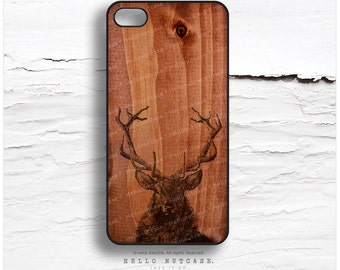 iPhone 7 Case Wood Stag Antlers iPhone 7 Plus iPhone 6s Case iPhone SE Case iPhone 6 Case iPhone 6s Plus iPhone iPhone 5S Case T148