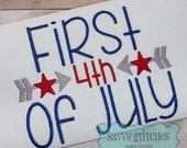 First Fourth Of July Machine Embroidery Design
