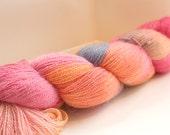 ALPACA / SILK -  Rosalie - Hand dyed LACE weight yarn 100g / 805 yrds