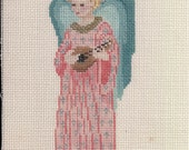 Musical Angel Needlepoint Ornament