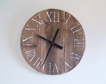 "21"" Small Rustic Pine Clock"