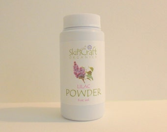 Lilac Body Powder - Deodorant Powder - made with 100% Natural Lilac Fragrance - Non GMO - Vegan 3 oz vol