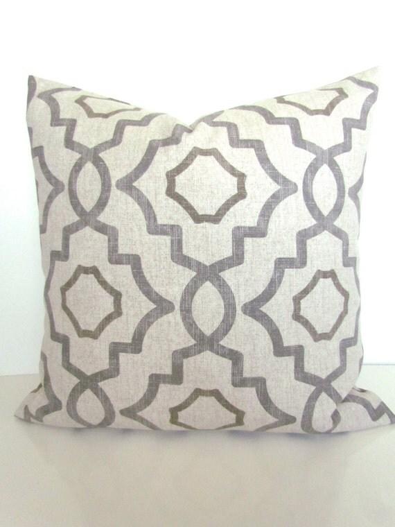 Gray Throw Pillow Covers : GRAY PILLOWS GREY Throw Pillow Covers Tan Pillows Grey