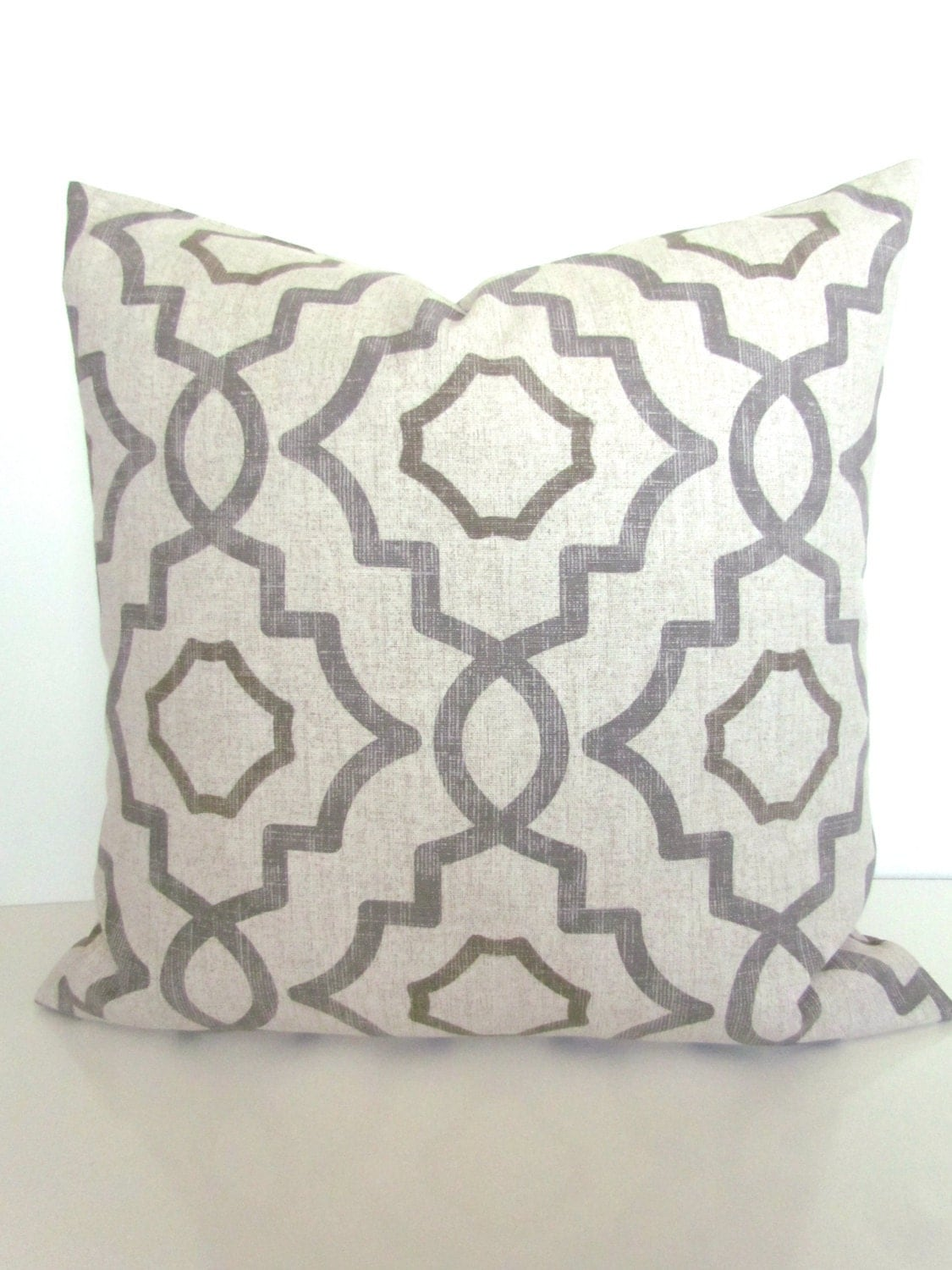 Gray Throw Pillows For Bed : GRAY PILLOWS GREY Throw Pillow Covers Tan Pillows Grey