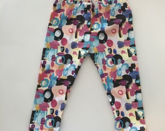 Ready to ship newborn size | piece of Art Leggings | Gender neutral