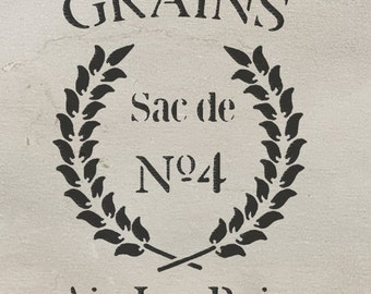 stencil, french, shabby chic, Grains, furniture stencil, wall painting art craft stencil