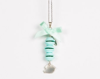 Away with the Birds Macaroon Necklace