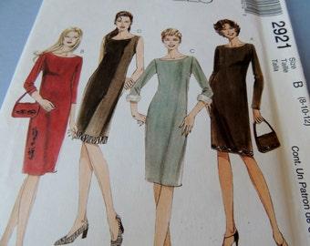 McCalls 2921 Size 8-10-12 Dress Pattern Uncut
