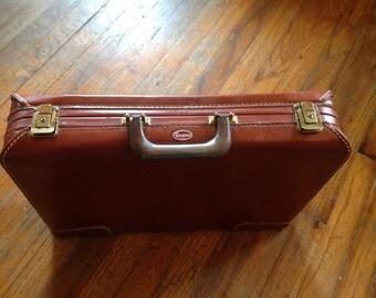 Vintage Genuine Leather Briefcase Portfolio Attache case Towne