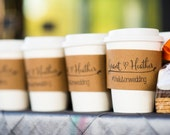 50 Custom Coffee Sleeves with CUSTOM STAMP