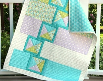 Jack's Boxes baby quilt - PDF pattern - digital download - simple and modern baby quilt