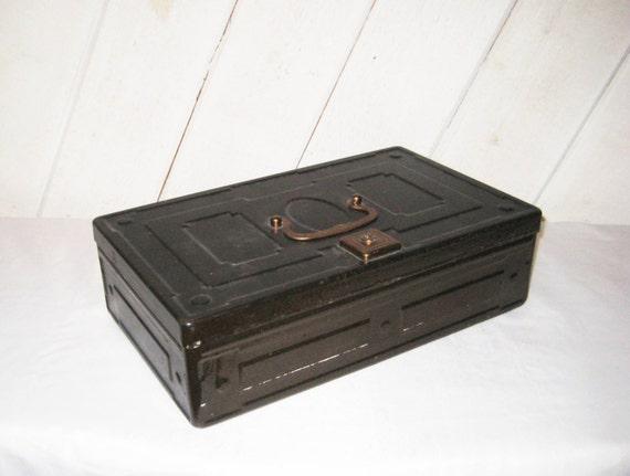 Decorative Boxes That Lock : Decorative metal box lock hinged lid storage