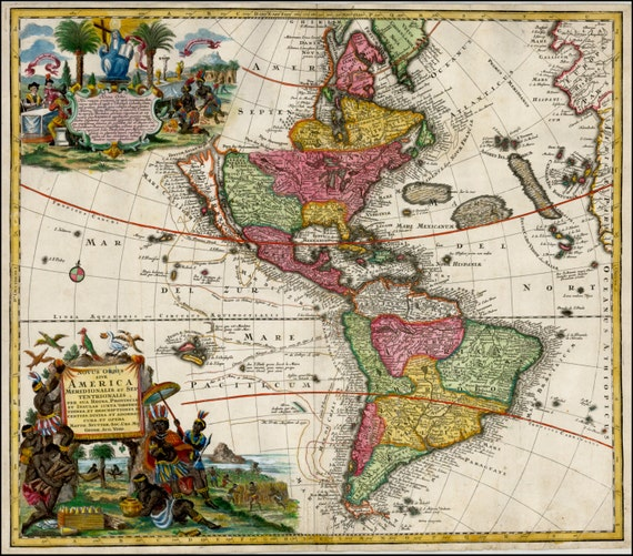 Ancient map Old world maps Ancient Map poster Wall world