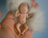 lifelike miniature baby 1/12 scale realistic hand sculpted dollhouse reborn