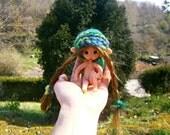 """miniature fairy 4 """"woodland fairy ooak art doll"""