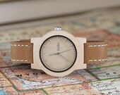 Engraved Wood Watch, Custom Engraved Wood Watch, Mens Watch Personalized Wood - CST-KNTY-L