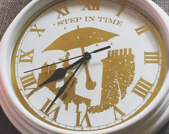 Foiled Mary Poppins Inspired Wall Clock