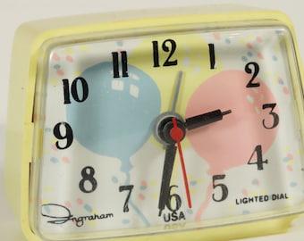 Vintage Ingram Alarm Clock - Balloons