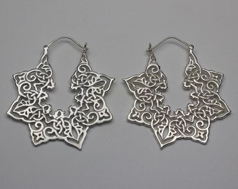 Silver Plated Brass Earrings (brass earrings 004)