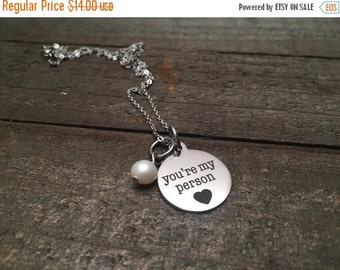 25% OFF Youre my person necklace, best friend necklace, Partners in crime