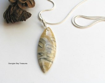Unknown pendant, wire wrapped, includes snake chain, gift under 20