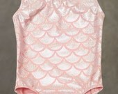 Gymnastics Leotards | Dance Leotards - Pink Coral Mermaid Seashell leotards for toddler's and girls sizes 2T, 3T, 4, 5, 6, 7, 8, 10, 12