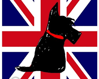 Scottie Dog Art Print Scottish Terrier #189