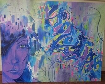 "Art Print  ""Hologram"" Graffiti"