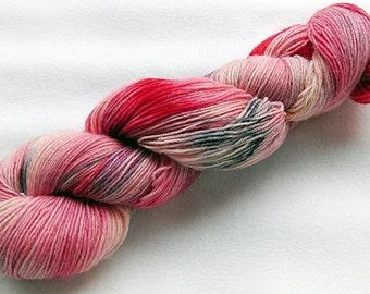 Handpainted Knitting Yarn,Sock Yarn, 75 Wool  superwash, 25 Nylon 100g 3.5 oz.  Nr.313