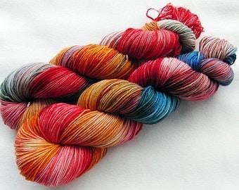 Handpainted Knitting Yarn,Sock Yarn, 75 Wool SW, 25 Nylon 100g 3.5 oz.  Nr. 345