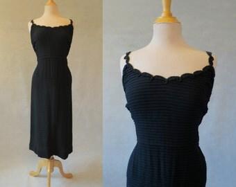 Black Dinner Dress - 1940s