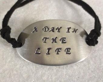 """Beatles """"A Day In The Life"""" sliding knot bracelet MEN OR WOMEN"""