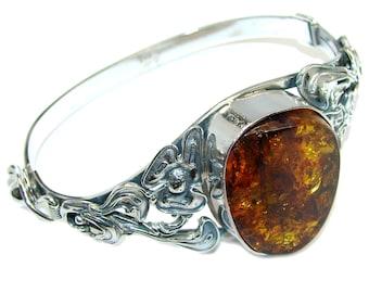 Amber Sterling Silver Bracelet - weight 29.00g - dim 1 1 4 inch - code 27-lip-16-52